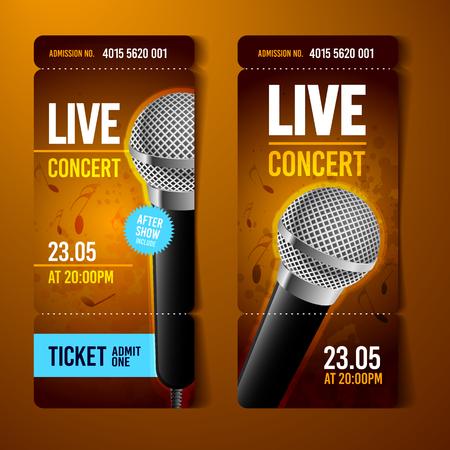A Vector Illustration Orange Music Concert Ticket Design Template ...