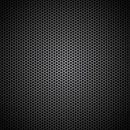 Vector illustration of metal speaker grille pattern texture Ilustración de vector