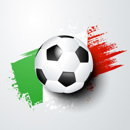 football world or european championship with ball and italy flag colors.