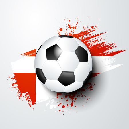 football world or european championship with ball and denmark flag colors.