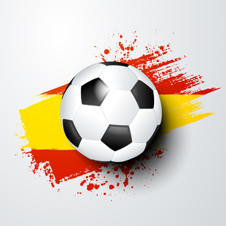 football world or european championship with ball and spain flag colors. Illustration