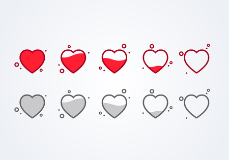 Vector illustration customer feedback feedback 5 Hearts rating or ranking concept.