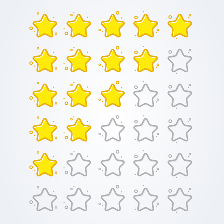 vector illustration 5 star rating icon isolated badge for website or app