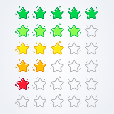 vector illustration 5 star rating icon isolated badge for website or app Vetores