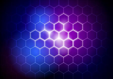 Vektor-Illustration abstrakter futuristischer Big Data Hexagon Hintergrund, HUD-Element, Technologiekonzept