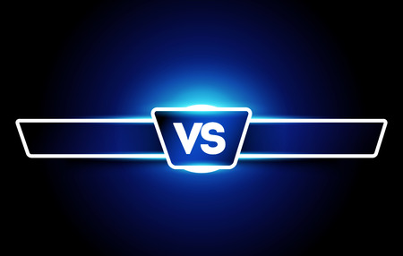 Vector VS logo. Versus Board of rivals, with space for text. For Games and Sports 일러스트