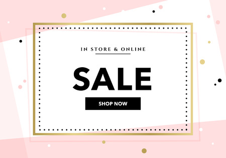 Vector modern promotion web banner template for social media mobile apps. Elegant sale and discount promo background with abstract pattern. Email ad newsletter layouts.