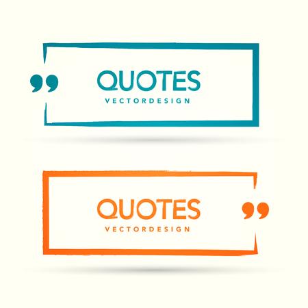 Quotation Mark Speech Bubble Set. Quote sign icon.