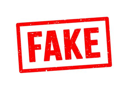 Illustrazione vettoriale di segno di gomma grunge timbro falso. Fondo del timbro di sigillo falso isolato