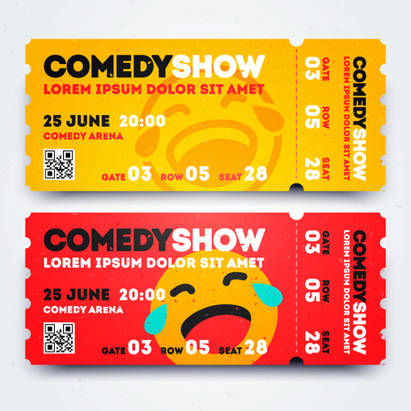 Stand Up Comedy Event Show Entry Ticket Template