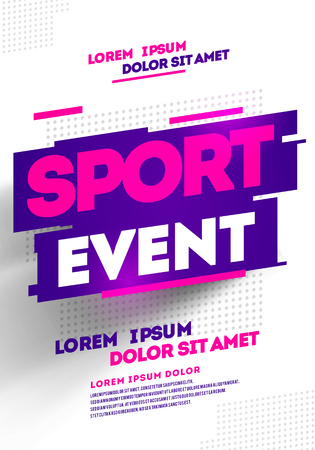 Vector Illustration Layout Poster Template Design For Sport Event, Tournament Or Championship.