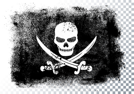 Jolly Roger Black Pirate Flag With Skull And Bones