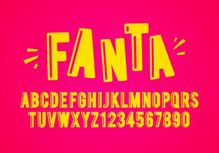 Vector Illustration Modern Playful Fun Font And Alphabet