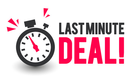 Vector Illustration Last Minute Deal Icon With Clock