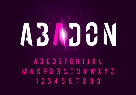Vector illustraton sport modern alphabet fonts. Technology typography future font uppercase.
