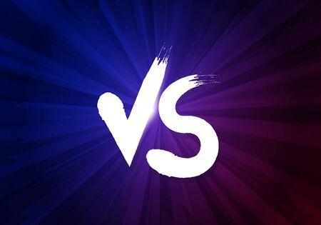 Vector illustration VS letters on dark background. Versus poster symbols of confrontation.
