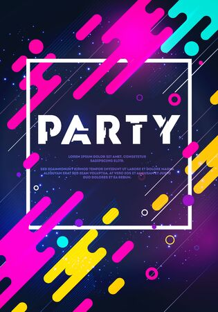 Vector illustration abstract retro background party poster 向量圖像