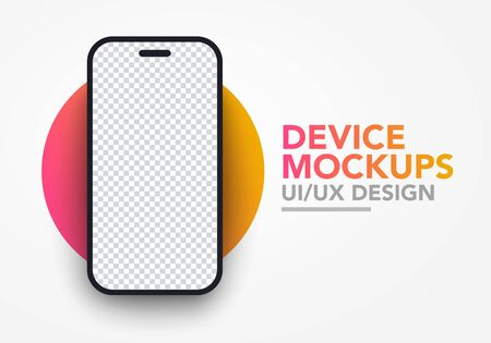 Vector illustration of modern blank smartphone screen mockup template 向量圖像