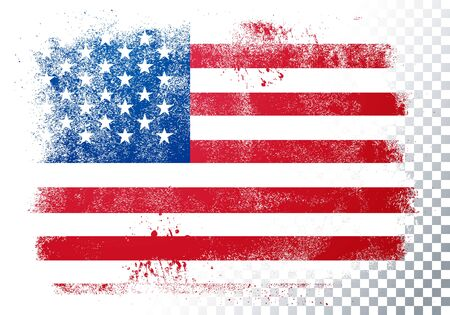 Vector illustration vintage grunge texture flag of usa 向量圖像