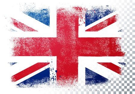 Vector illustration vintage grunge texture flag of great britain