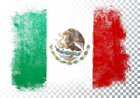 Vector illustration of retro grunge flag of mexico