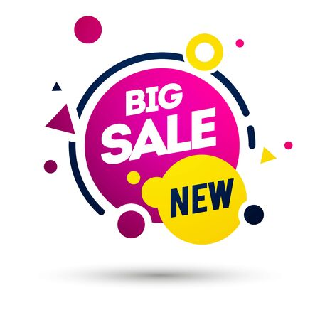 Vector illustration new big sale offer. Colorful label element 向量圖像