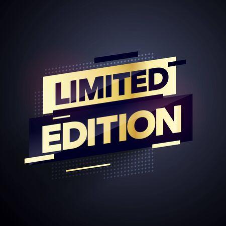 Vector Illustration Luxury Gold Limited Edition Sale Banner. Golden web label element. Vektoros illusztráció