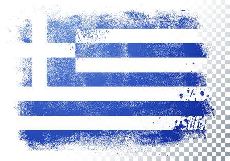 Vector Illustration Distortion Grunge Flag Of Greece