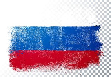 Vector Illustration Distortion Grunge Flag Of Russia