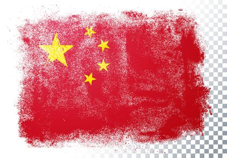 Vector illustration of abstract grunge flag of china