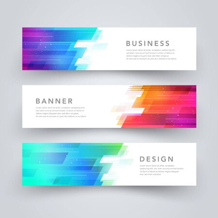 Modern abstract geometric tech design banner template. Vector web element.