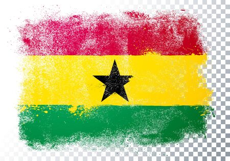 Vector Illustration Abstract Grunge Flag Of Ghana 向量圖像