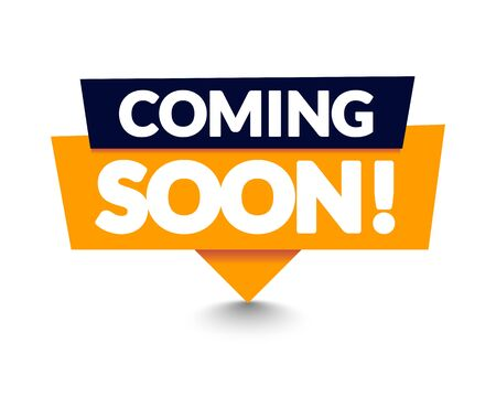 Vector Illustration Modern Coming Soon Banner Icon. Flat web label element. Vettoriali