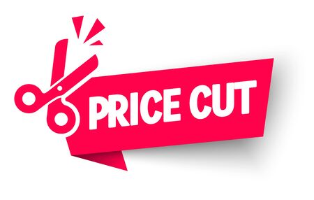 Vector Illustration Sale And Discounts Cut Prices Design For Banner With Scissors 向量圖像
