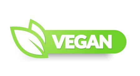 Vector illustration vegan food icon. Label Elements, Badges And Stickers