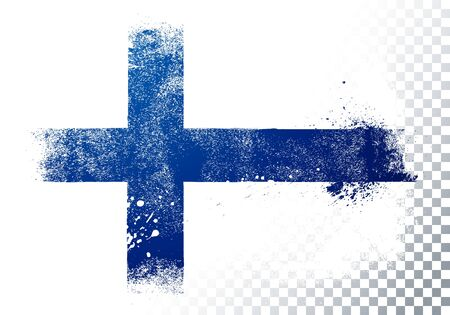 Vector Illustration Grunge And Distressed Flag Of Finland 向量圖像