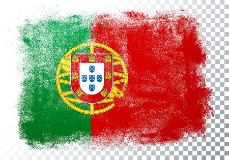 Vector Illustration Grunge And Distressed Flag Of Portugal