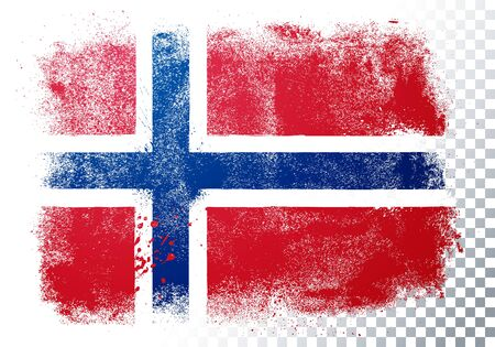Vector Illustration Grunge And Distressed Flag Of Norway 向量圖像