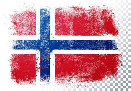 Vector Illustration Grunge And Distressed Flag Of Norway Векторная Иллюстрация
