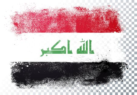 Vector Illustration Grunge And Distressed Flag Of Iraq