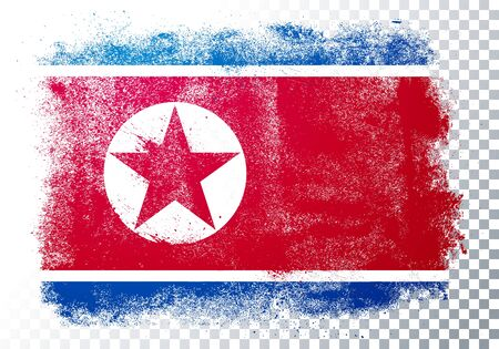 Vector Illustration Grunge And Distressed Flag Of North Korea