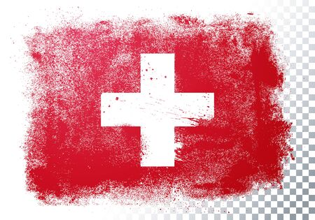 Vector Illustration Grunge And Distressed Flag Of Switzerland
