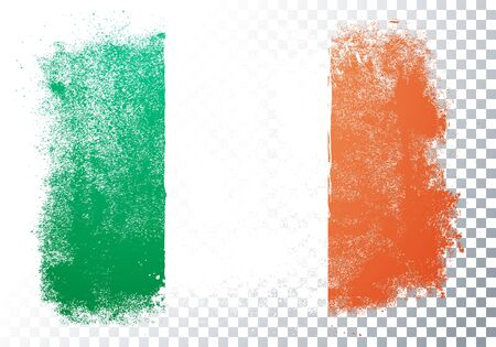 Vector Illustration Grunge And Distressed Flag Of Ireland