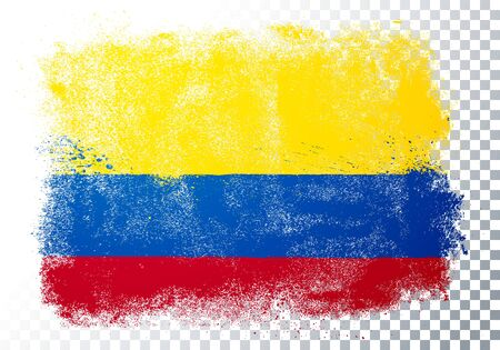 Vector Illustration Grunge And Distressed Flag Of Colombia