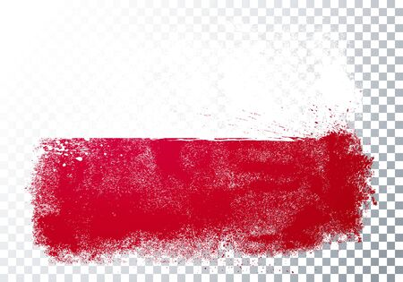 Vector Illustration Grunge And Distressed Flag Of Poland