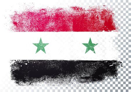 Vector illustration distressed grunge flag of syria. Illusztráció