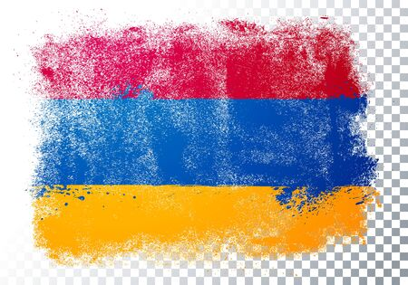 Vector illustration of vintage grunge texture flag of armenia Banque d'images - 138469381