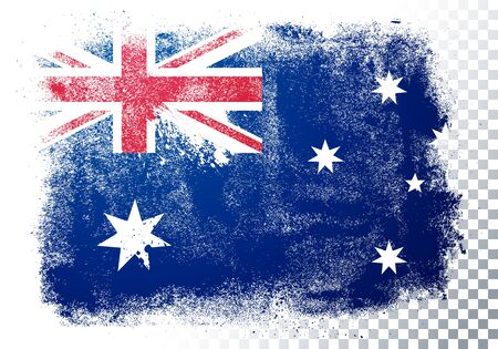Vector illustration of vintage grunge texture flag of australia Banque d'images - 138469151