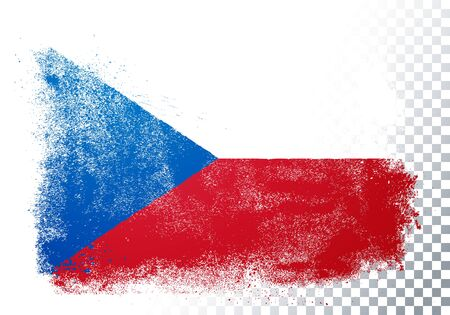 Vector illustration vintage grunge texture flag of Czech Republic Banque d'images - 138469228