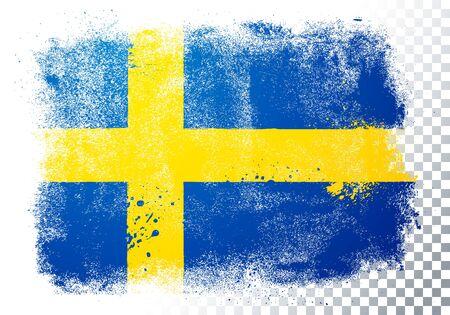 Vector illustration distressed grunge flag of sweden Illustration